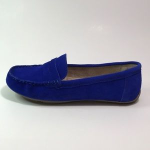 Merona Women's Size 9 Royal Blue Suede Loafers